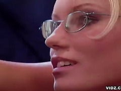 blonde, glasses, oral, blowjob, hardcore, office