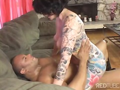 pärchen, milf, masturbationen, blowjob, interracial