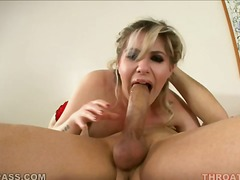 cumshot, oral, cum-swallow, tattoo, facial, handjob, natural-boobs, monster-cock, deepthroat
