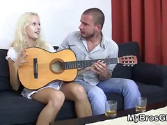 hard, blond, bj