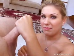small-tits, blonde, handjob, big-tits, couple, hardcore, pov