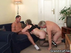 Young and old fuck granny