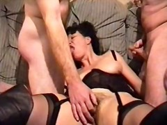 bj, hard, nylon, bunette, milf, driesaam