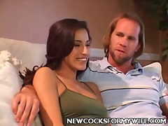 Young wife cheating on her husband