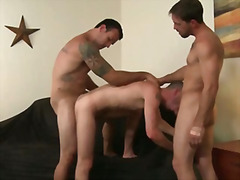 men, blowjob, straight, threesome, butt, cock-riding, hairy, bubble-butt, big-tits, parker, muscular