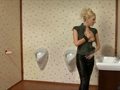 masturbation, bizarre, gloryhole, blonde