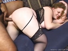 big-tits, anal, brunette, natural, bbw, interracial, stockings