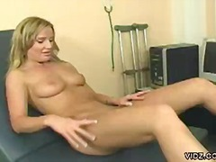 fingering, doctor, blonde, gyno, clinic, exam