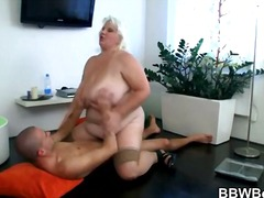 hard, blond, ouer, bbw