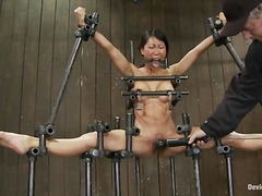 slave, shaved, chained, bdsm, orgasm, asian, fetish, humiliation