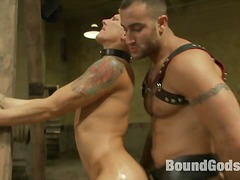 leather, slave, clamps, gay, fetish, chained, humiliation
