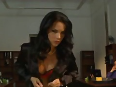 Sex with irresistible secretary babes