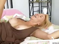 face-fucking, cumshot, blonde, sex-toys, anilos.com, cum-on-tits, hardcore, blowjob, cum-shot, mature, hairy-pussy