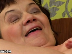 mature, pussy-eating, ass-licking, granny, old, eyes, strap-on, fingering, brunette, kissing, lesbian