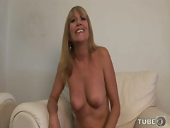 mom, old, busty, strip, milf, natural-breasts, interview, blonde, shaved, mother