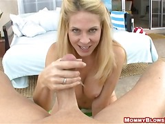 blow, pov, busty, stick, point-of-view, blonde, oral