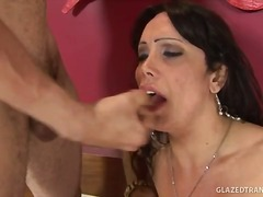 transsexual, facial, blowjob, ass-to-mouth, anal