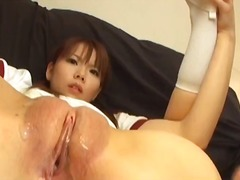 pussy-eating, brunette, asian, speculum, t.y., toys,