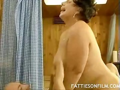 Sexy older fatty fucked