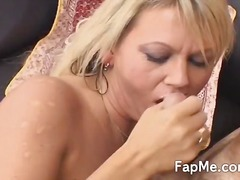 jugs, guy, milf, tattooed, great, handjob, giving