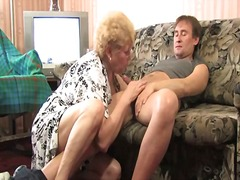Drunken sexy mother inside glasses has bonked raw