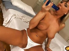 toys, boobs, bed, panties, solo