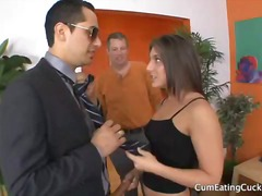 threesome, cuckold, blowjob, hardcore, bisexual