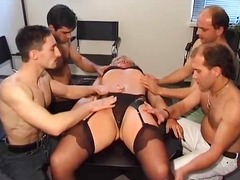 poesie, ouer, bj, gangbang, blond