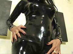 solo, schwanz, latex, fetish, shemale, masturbationen