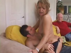 Cougar babe seduces young stud