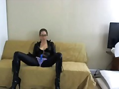 fetish, self gemaak, hard, webcam, vibrator, bril, mastrubasie