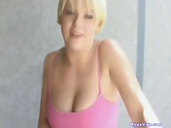 blonde, oral, handjob, pizza, gagging, deepthroat, swallow