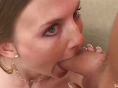 tits, natural, blowjob, blonde, oral, mmf, 3some, deepthroat