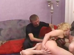 mutti, reif, blond, finger, gangbang