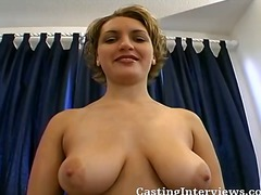 fucking, shorts, gets, behind, watching, from, big, audition, babe