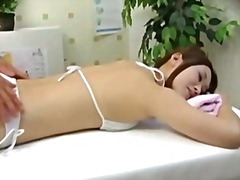 oil, massage, fingering, voyeur, asian, orgasm