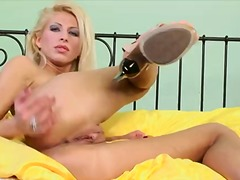 glamour, blonde, fucking, masturbation, twistys, trimmed, high, machines, heels, toys, euro, pussy, solo