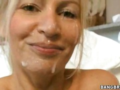 Busty milf has fucked and creamed by 2 young joysticks
