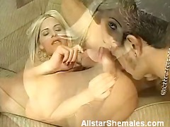 Shemale thais does anal in the living room