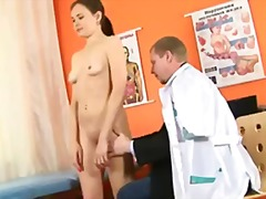 shaved, kinky, gyno, doctor, insertion, pussy, clinic, medical, speculum, fingering