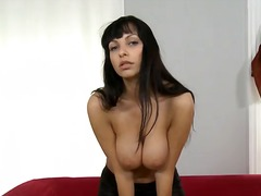 Large racked brunette marta stripping