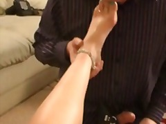 crossdresser, fetish, glasses, massage, pee, smoking, wanking, cowgirl, fishnet, heels, oil, squirt, cameltoe, femdom