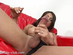 handjob, stroking, cock, solo, ejaculation, big, monstercock, brunette, big cock, big boobs, big ass, masturbation