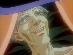 Old man eats out and fucks blonde hentai girl