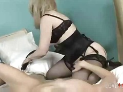 lick, pussy, milf, lesbian, stocking, lingerie