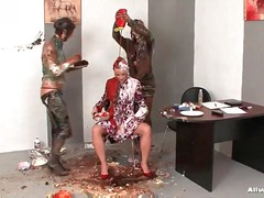 Beauty niki sweet struts herself into a messy scene and gets her time in the allwam chair of total mess des...