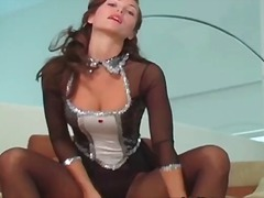 Amazing brunette girl is stripping part2
