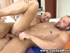Masseur blows load for anal