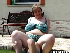 titjob, milk, big cock, outdoors, big, bbw, busty