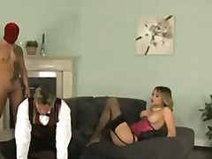 petit, heels, threesome, big cock, natural boobs, trimmed, lingerie